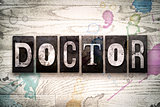 Doctor Concept Metal Letterpress Type
