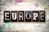 Europe Concept Metal Letterpress Type