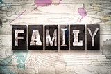 Family Concept Metal Letterpress Type