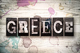 Greece Concept Metal Letterpress Type