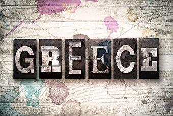 Greece Concept Metal Letterpress Type