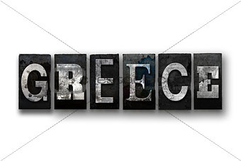 Greece Concept Isolated Letterpress Type