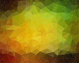 Yellow and Green Vector. Background with triangles shapes