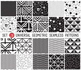 Universal set vector seamless patterns