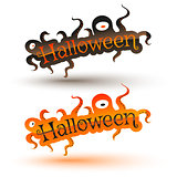 Vector set banners for Halloween