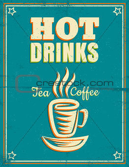 poster with hot drinks