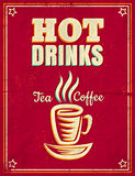 vintage poster with hot drinks
