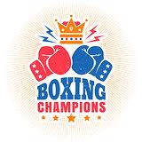 vintage sport logo for boxing