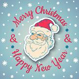 Santa Claus and snow