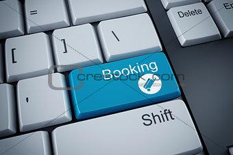 3D rendering of booking keyboard