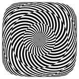 Op art pattern. Rotation illusion.