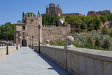Saint Martin medieval bridge in Toledo, Spain