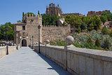 Saint Martin medieval bridge in Toledo, Spain