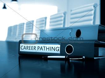 Career Pathing on Folder. Blurred Image.