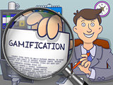 Gamification through Magnifying Glass. Doodle Style.