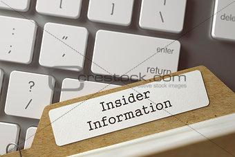 Card Index - Insider Information.