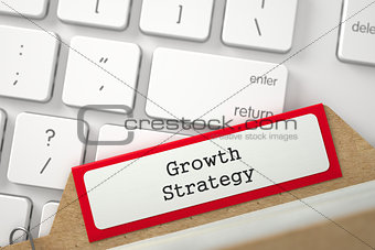 Folder Register with Inscription Growth Strategy.