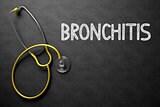 Bronchitis Handwritten on Chalkboard. 3D Illustration.