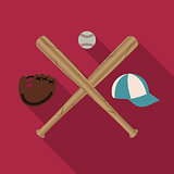 Baseball icon, vector illustration.