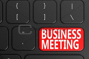 Business Meeting on black keyboard