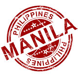 Red Manila stamp
