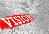 Vision word cloud business concept