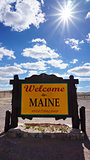 Welcome to Maine state concept