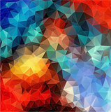 Color Abstract mosaic. triangle geometric background