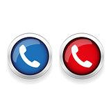 Phone icon vector button
