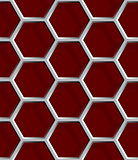 Seamless abstract honeycomb mesh background - hexagons.