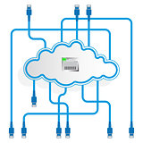 Cloud data storage. Mirroring. Worldwide network.