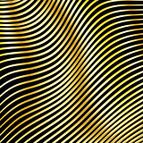 Wavy strips of golden color on a dark background.