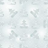 Winter seamless silvery spotty pattern