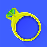Gem Gold Ring
