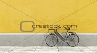 Old wall with bicycle