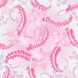 Valentine pink sealess pattern