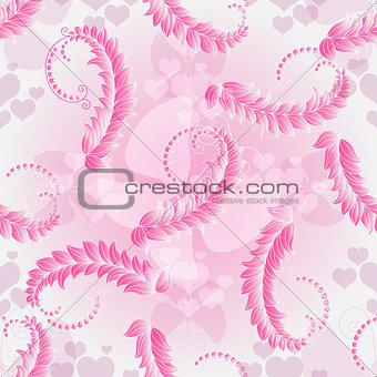 Valentine pink sealess pattern