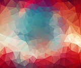 triangle geometric background. Color Abstract mosaic.