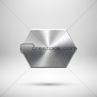 Abstract Technology Geometric Badge
