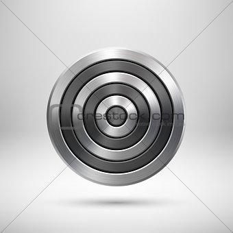 Abstract Technology Circle Metal Badge