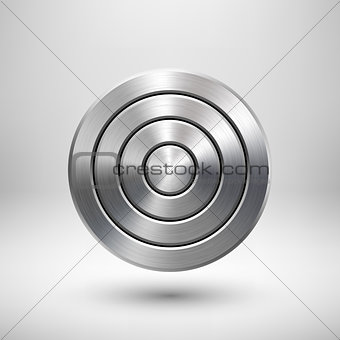 Abstract Technology Circle Metal Badge