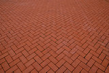 Red paving slabs