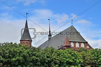 Koenigsberg Cathedral on Kneiphof island. Kaliningrad, formerly