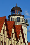 Lighthouse in the Fishing village. Kaliningrad, formerly Konigsb
