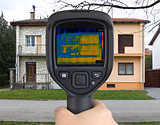 Semi Detached Houses Infrared Camera