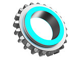 blue color gear wheel