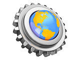 gear wheel and earth