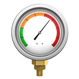 manometer 3d isolated