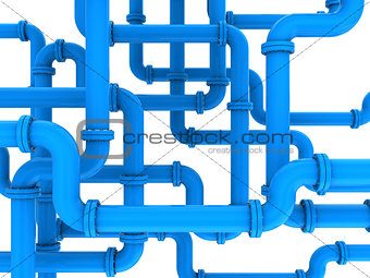 blue pipes