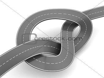 3d illustration of road knot